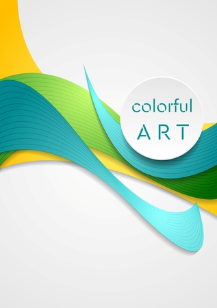 bends: Bright corporate smooth bends. Vector elegant colorful waves for your design