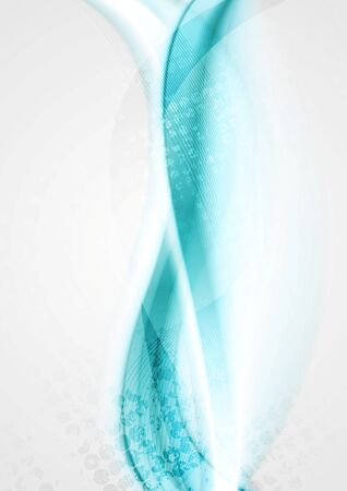 smooth background: Smooth turquoise bright waves background. Vector design