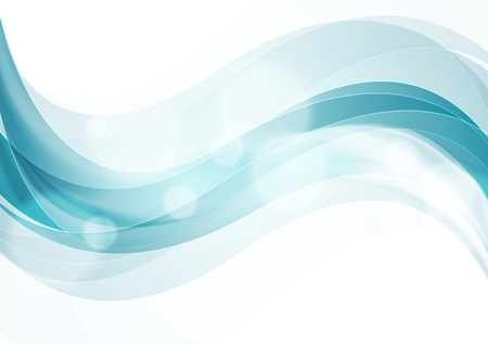Shiny smooth waves abstract background. Vector web design