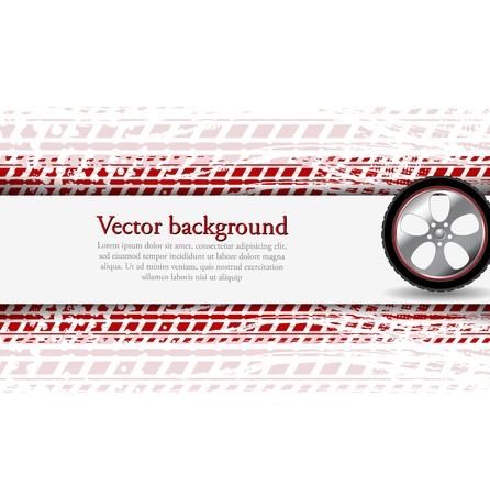 huellas de neumaticos: Rueda y neumático pista grunge. Fondo corpoate abstracta. Diseño vectorial