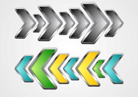 metallic: Abstract metallic arrows background. Vector design illustration