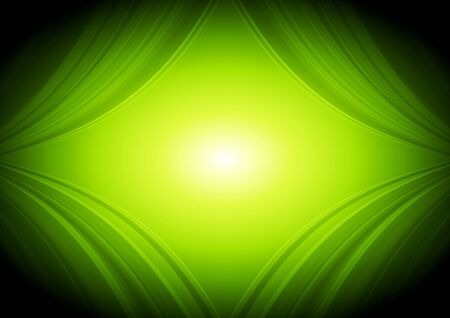 abstract waves: Abstract green waves tech background. Vector design Illustration