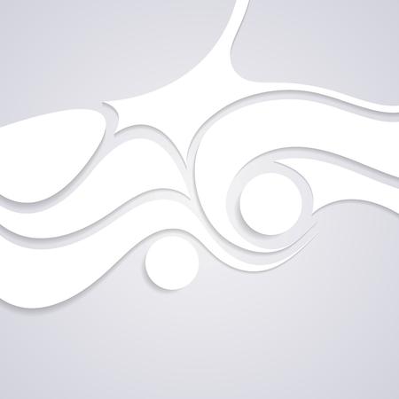 Wavy corporate swirl pattern design. Vector background