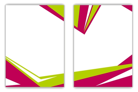 Red green geometric bright flyer background. Vector design art