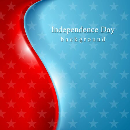 visions of america: Abstract wavy usa stars background. Vector design
