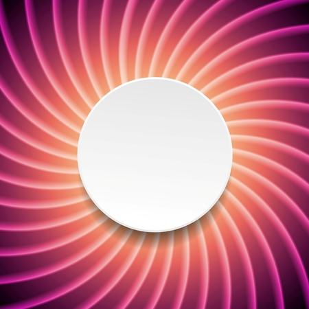 purple swirl: Smooth purple swirl background with circle. Vector card design