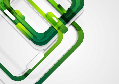 green banner: Abstract green geometric corporate background. Vector design Illustration