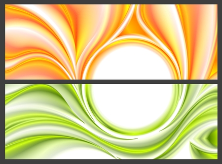 waves pattern: Abstract bright smooth waves pattern. Vector banners design