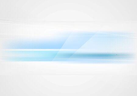 modern wallpaper: Bright abstract blue tech elegant background. Vector template Illustration