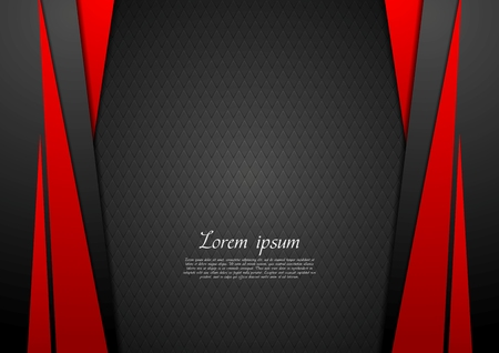 Dark red corporate tech modern background. Vector design