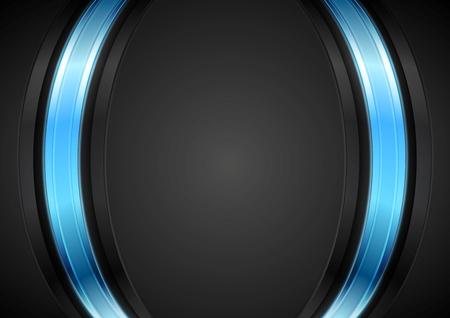 Dark corporate background with glow blue light. Vector design 일러스트