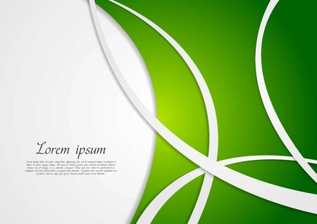 background green: Abstract wavy corporate green background. Vector design Illustration