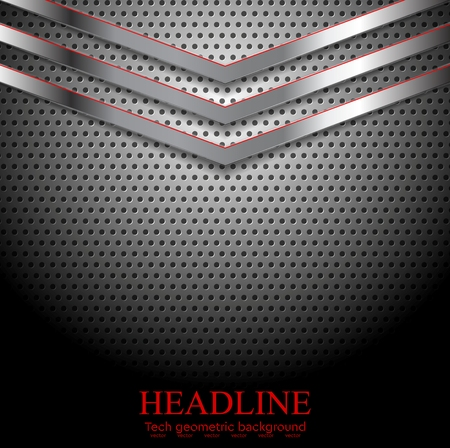 perforated: Abstract perforated metallic background with arrows