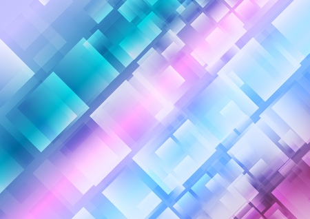Abstract blue purple squares background. Vector design