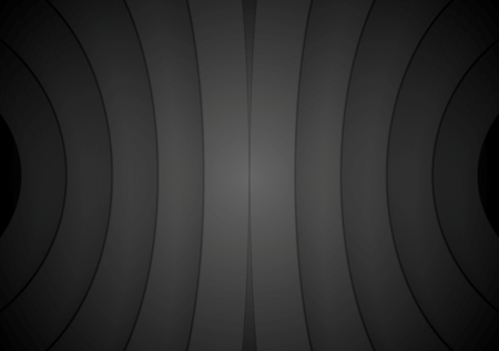 Abstract curve shapes black background. Vector design