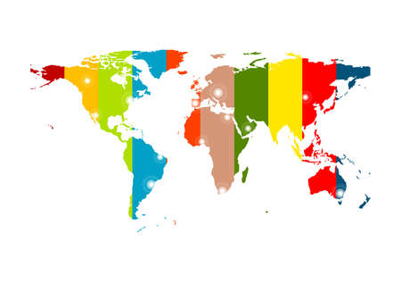 futuristic background: Colorful abstract world map background. Vector design