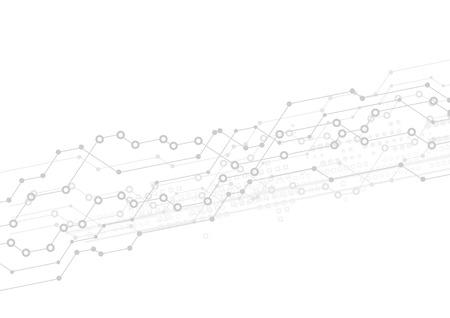 Abstrait arrière-plan de la technologie de la lumière avec la conception de carte de circuit imprimé. Vecteur gris illustration Vecteurs
