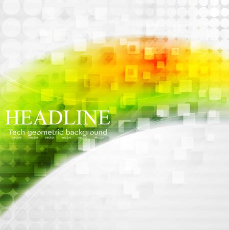 background color: Bright colorful tech wavy background. Vector small squares design