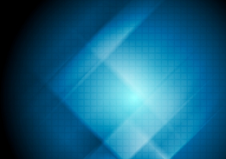 Dark blue abstract tech background with squares texture. Vector design Stock Illustratie