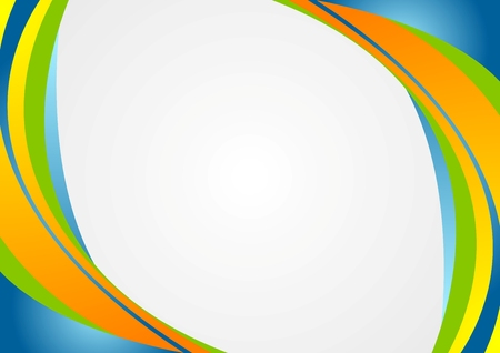 blue green: Abstract colorful corporate wavy background. Vector design Illustration