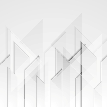 Abstract grey tech geometric  background. Vector design
