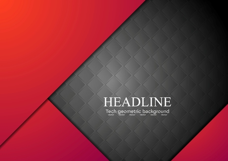 rojo oscuro: Dark red corporate abstract background. Vector art design