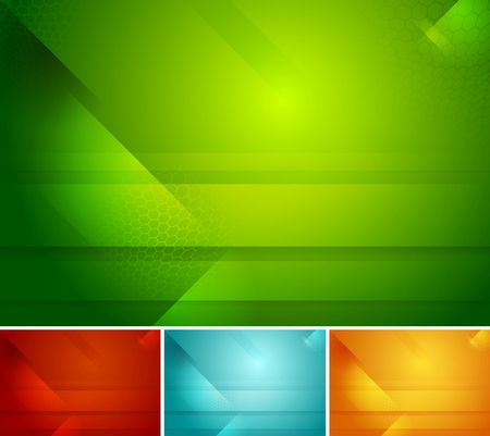 Bright abstract corporate tech backgrounds. Vector design