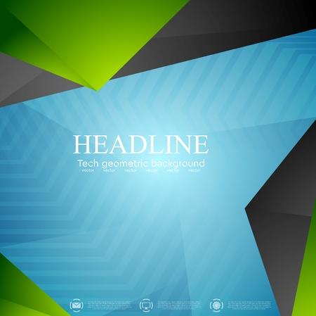 blue green background: Bright tech modern corporate background. Vector design Illustration