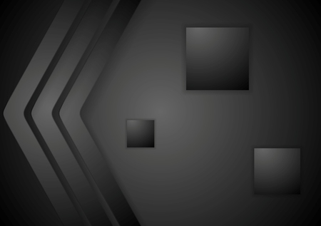 Dark abstract corporate tech background. Vector design