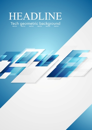 Blue grey shiny hi-tech motion background. Vector illustration template