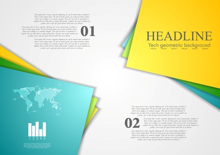 contrast: Bright corporate abstract contrast background. Vector design