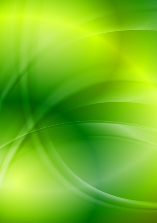Shiny green iridescent wavy background. Vector design