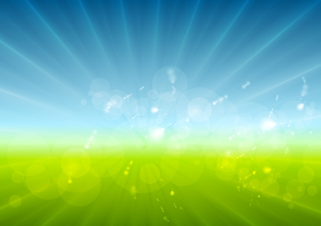 sunny sky: Abstract sunny landscape background. Vector design Illustration