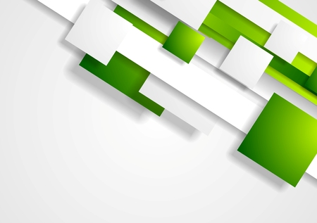 Geometric tech corporate background with squares. Vector design Vettoriali