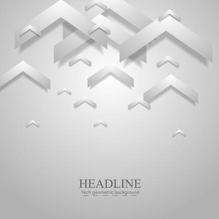 arrows vector: Grey light geometric corporate background with arrows. Vector design