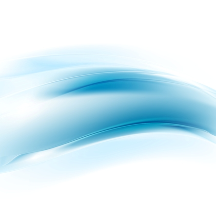 graphic background: Graphic abstract illustration with blue waves for corporate design. Vector card background