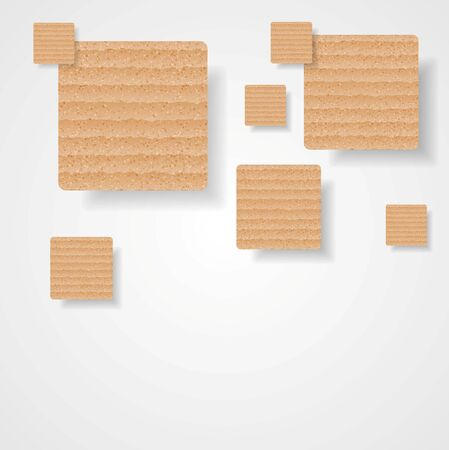 web template: Graphic background of cardboard squares. Vector art design