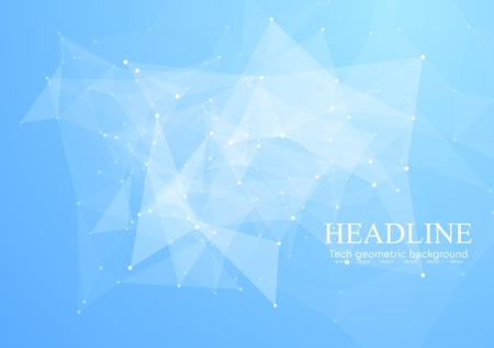 internet background: Low poly abstract triangles bright tech background. Vector design Illustration