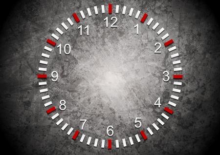 mur grunge: R�sum� horloge sur le mur grunge. Vector business fond