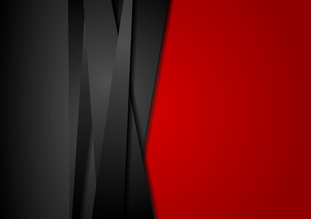 Red and black abstract striped background. Corporate vector design
