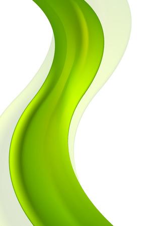 green line: Vertical green waves bright design. Vector background