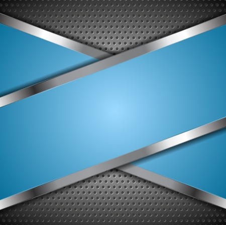 blue metallic background: Abstract blue background with metallic design. Vector illustration