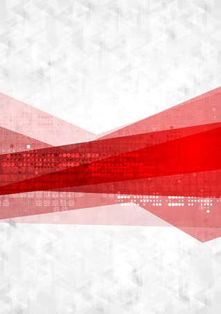 Abstract red grey technology background. Vector design Stock Vector - 43089914