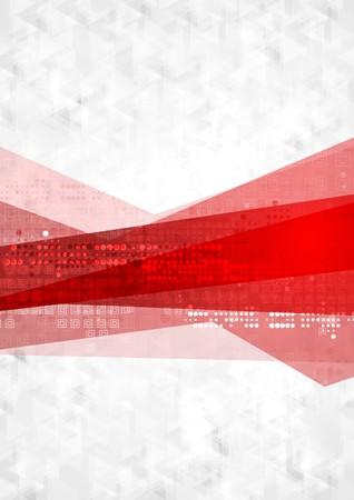fondo rojo: Fondo rojo de la tecnolog�a gris abstracto. Dise�o vectorial