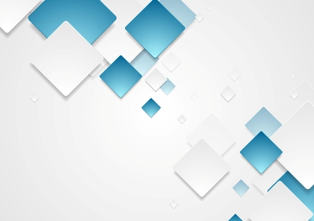 Abstract geometric tech paper squares design. Vector background