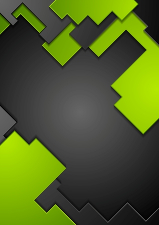 Green black contrast technology background. Vector design