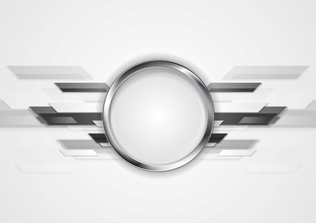silver circle: Abstract grey technology design with silver circle. Vector background