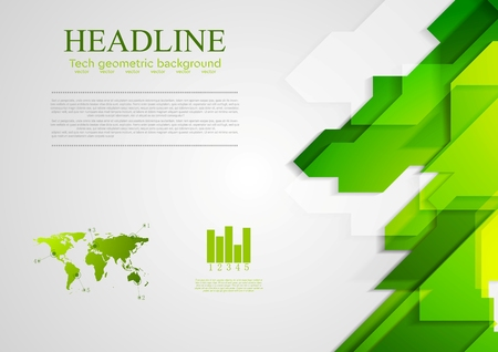 green lines: Abstract green hi-tech bright background. Vector design