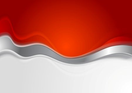 black and red: Bright background with metal wave. Vector design