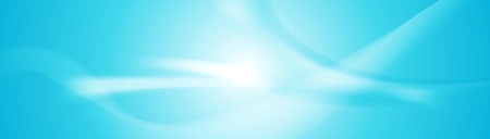 Abstract shiny blue wavy banner. Vector background